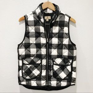 Woolrich Down Vest Puffer Plaid Checkered